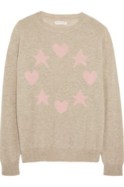 Star and heart-intarsia cashmere sweater