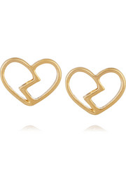 Heart Core Broken Hearted gold-tone earrings