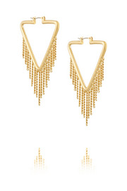 Beat It gold-plated earrings