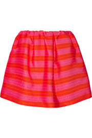 Striped jacquard mini skirt