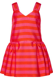 Striped jacquard mini dress