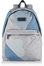Crosby quilted chambray backpack