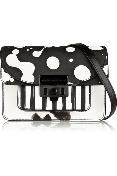 17a7b4725 Marc by Marc Jacobs   Lip Lock leather-trimmed printed PVC shoulder ...