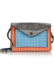 Marc by Marc Jacobs Metropoli printed textured-leather shoulder bag