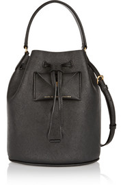 Metropoli textured-leather bucket bag