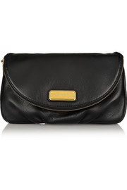 Classic Q Natasha textured-leather clutch