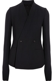 Stretch wool-blend jacket
