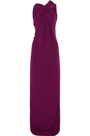 Gazella twist-front silk gown