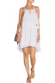 Crinkled-voile mini dress