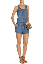 Splendid Washed-denim playsuit