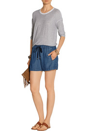 Splendid Washed-chambray shorts