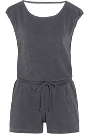 Active slub cotton-jersey playsuit