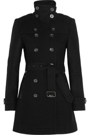 Burberry Brit Double-breasted wool-blend felt coat
