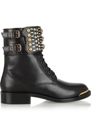 René Caovilla Swarovski crystal-embellished leather boots