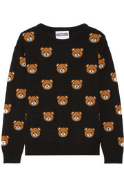 Bear-intarsia wool sweater