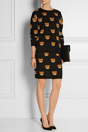 Moschino Bear-intarsia wool sweater