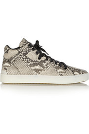 Rag & bone Kent snake-effect leather high-top sneakers