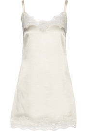 Dolce & Gabbana Lace-trimmed stretch-silk satin chemise