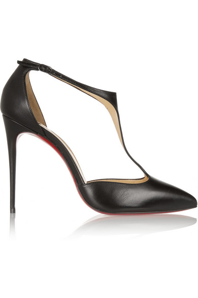 christian louboutin female christian louboutin j string 100 leather tbar pumps black