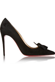 Christian Louboutin Gwalior 100 tasseled suede pumps