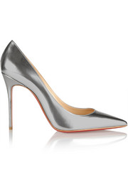 Christian Louboutin Décolleté 100 metallic leather pumps