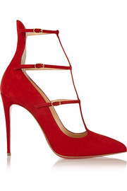 Christian Louboutin Toerless Muse 100 suede pumps