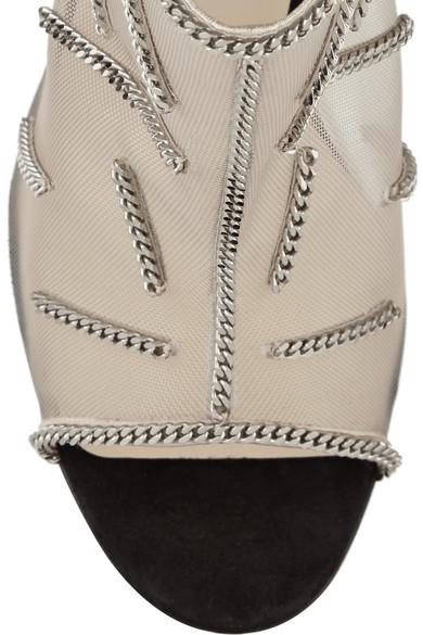 christian louboutin heels replica - Christian Louboutin | Signifiamma 100 chain-embellished mesh and ...
