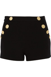 Wool-crepe shorts