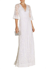 Temperley London Bertie embroidered tulle gown