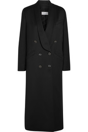 Douglas wool-blend sateen coat