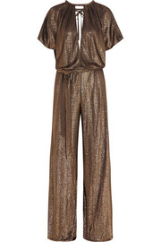 Lamé wide-leg jumpsuit