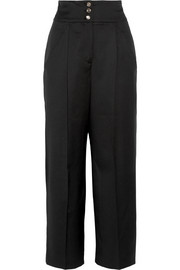 Isaac wool wide-leg pants