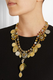 Dolce & Gabbana Gold and silver-plated Swarovski crystal necklace