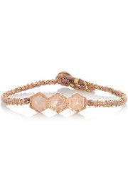 Brooke Gregson 18-karat rose gold diamond bracelet