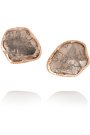 18-karat rose gold diamond earrings