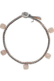 18-karat rose gold, sterling silver and diamond bracelet