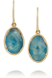 Brooke Gregson 14-karat gold aquamarine earrings