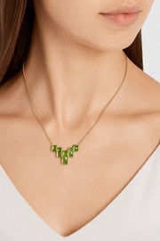 18-karat gold tsavorite necklace
