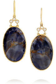 Brooke Gregson 18-karat gold, sapphire and diamond earrings