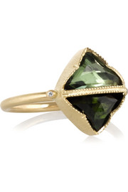 Brooke Gregson 14-karat gold, tourmaline and diamond ring