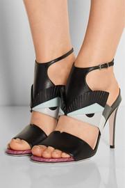 Bag Bug appliquéd leather sandals
