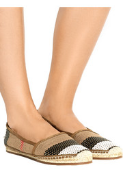 Burberry Shoes & Accessories Woven leather and canvas espadrilles