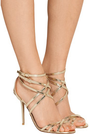 Burberry Shoes & Accessories Metallic leather sandals