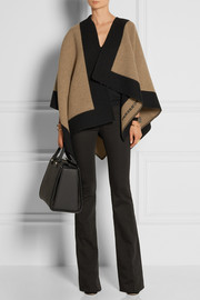 Burberry Shoes & Accessories Two-tone wool and cashmere-blend cape