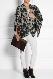 Burberry Shoes & Accessories Leopard-print wool and cashmere-blend cape