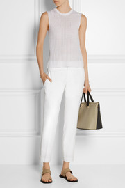 Stretch linen and Modal-blend straight-leg pants