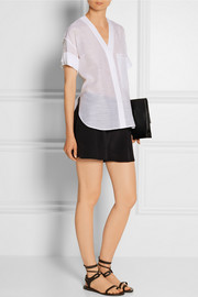 Helmut Lang Cotton and silk-blend top