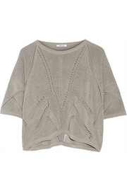Helmut Lang Cropped knitted linen-blend sweater