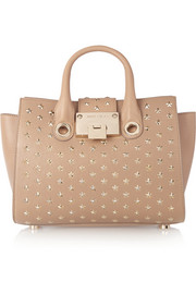 Riley studded leather shoulder bag