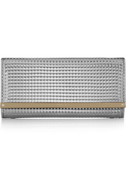 Jimmy Choo Milla embossed metallic leather clutch